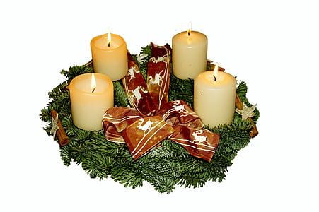 Advent pärg, Advent, jõulud, Holly, kokkuleppe, jõulude ajal, mõtisklev