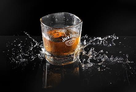 l'alcohol, alcohòliques, begudes, fred, rosada, beguda, got d'aigua
