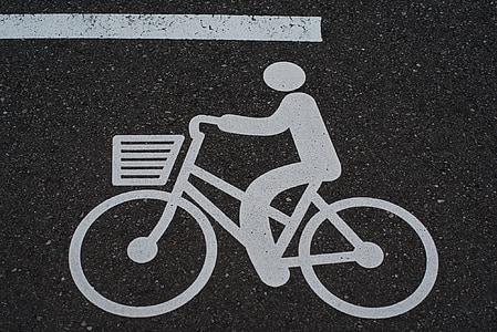 bicikl, piktogram, prometne znakove