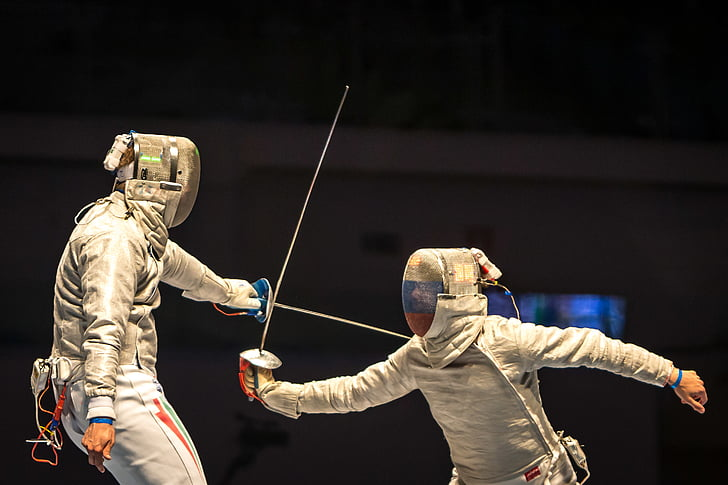 sparring, sport, athletic, olympic, games, people, men