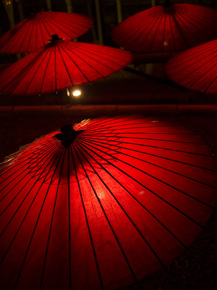 japanese umbrellas, umbrella, japanese style, k, yamaga city, hot springs, japan