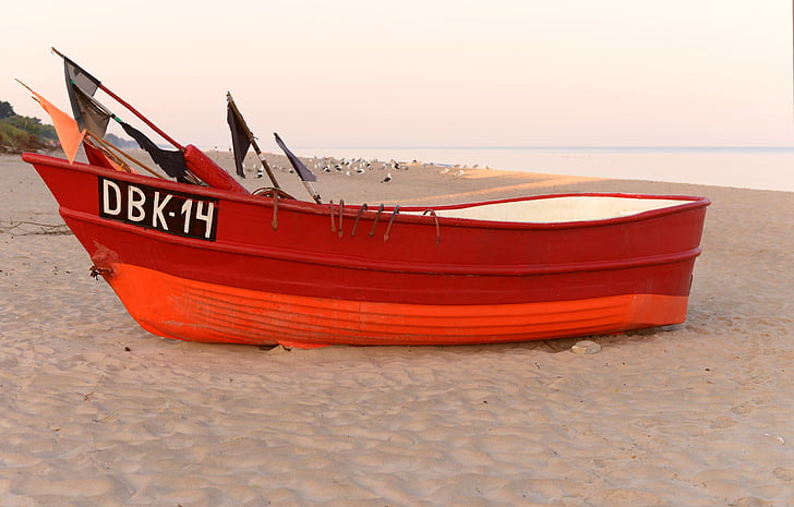 boat, the fisherman, beach, sea