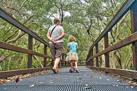 chůze, pospolitosti, sledování, štěstí, procházky, aktivní, cvičení