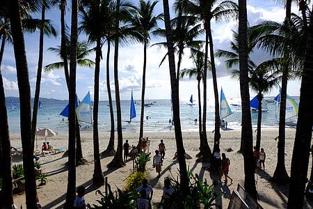 baltas paplūdimys, Boracay, paplūdimys