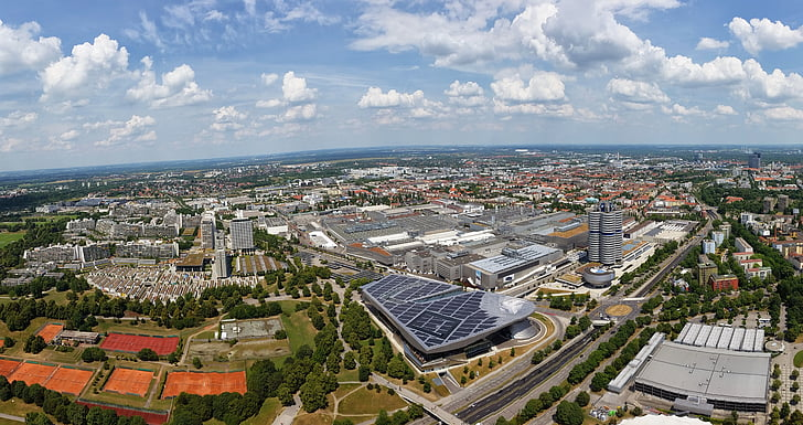 munich, aerial view, city, germany
