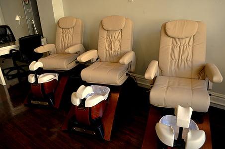 chairs, seats, hair salon, spa, salon, cosmetics