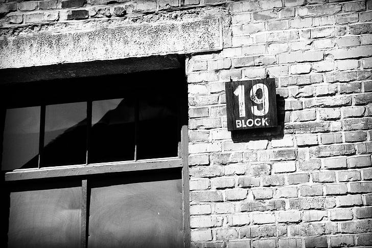 Block 19, Auschwitz, Ba Lan, chủ nghĩa phát xít, trại tập trung, người Do Thái, gạch