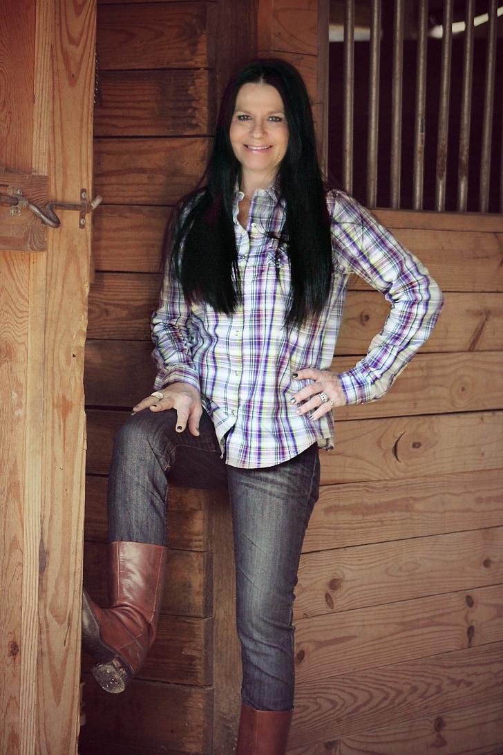 country girl, woman, barn, farm, farmer, country, stables