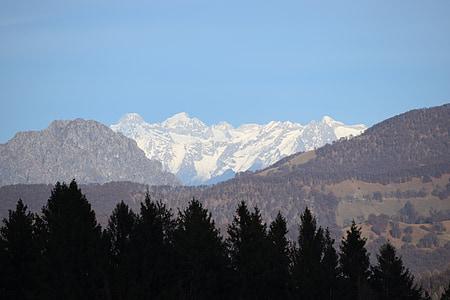 montaña, nieve, montaña Nevada, la nieve, invierno, montañas, paisaje