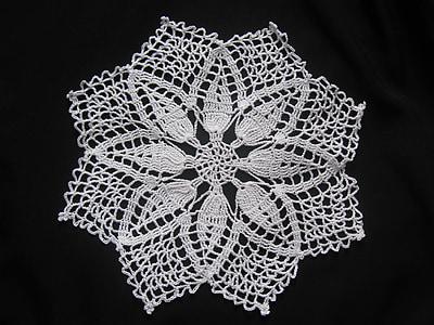 Crochet koc, na szydełku, pracy ręcznej, czarno-białe, wzór, wiktoriański