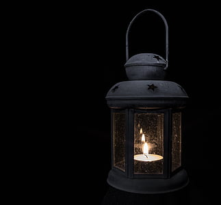 lamp, light, tea lights, low, candle, flame, lighting equipment