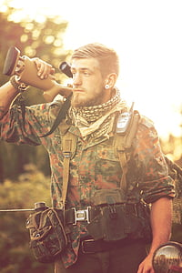 warrior, weapon, air, armed Forces, army, military, men