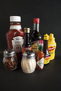 pebre, condiments, mostassa