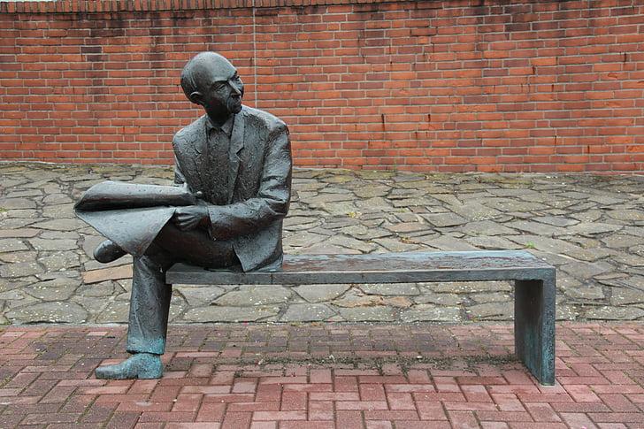 man, newspaper, read, information, news, inform, break