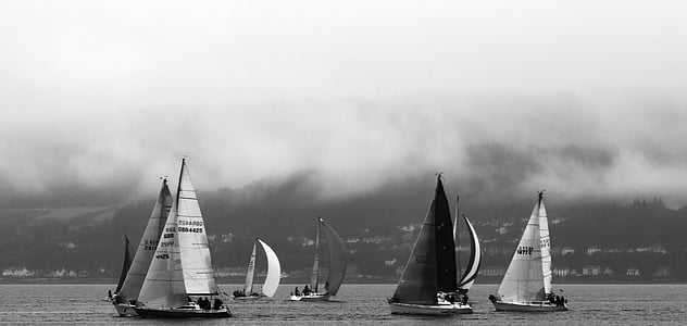yachts, boats, sea, water, travel, ocean, sail