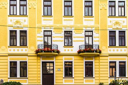 arquitectura, façana, renovació, edifici, casa, estil arquitectònic