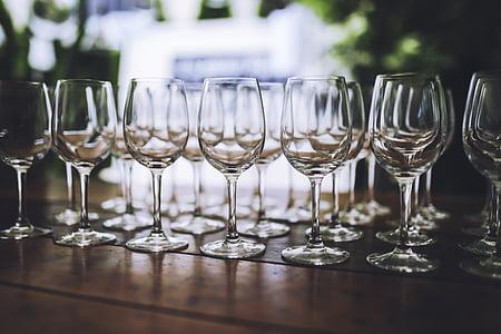 vi, vidre, ulleres, vidre blanc, passel, l'alcohol, Wineglass