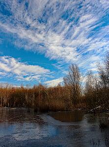 Lake, jäädytetty, talvi, Ice, maisema, aika vuodesta, jäätynyt järvi