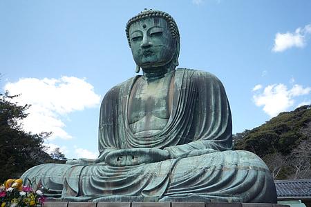 Buddha, Japonsko, Asie, Japonština, socha, sochařství, relaxace