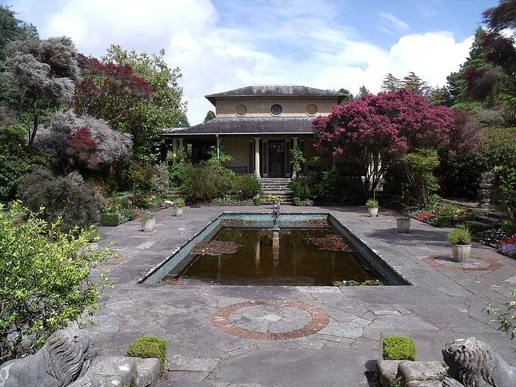 theehuis, Tuin, Botanische, Park, Ierland