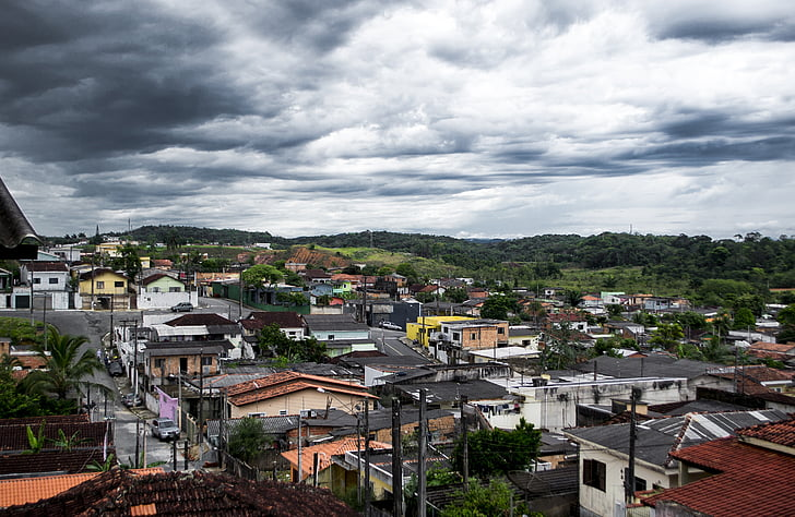 Favela, City, myrsky, Clouds
