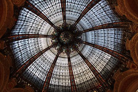 França, París, grans magatzems, galeria, Lafayette, vidrieres, llocs d'interès