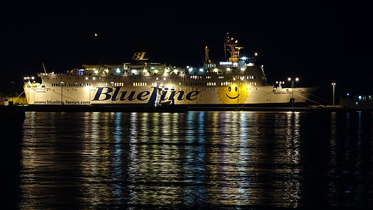 fartyg, Kroatien, färja, Split, gamla stan, hamn, Dalmatien