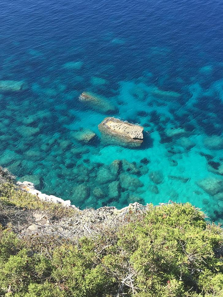 mare, turcoaz, apa, pe litoral, Marea Mediterană, apa turcoaz