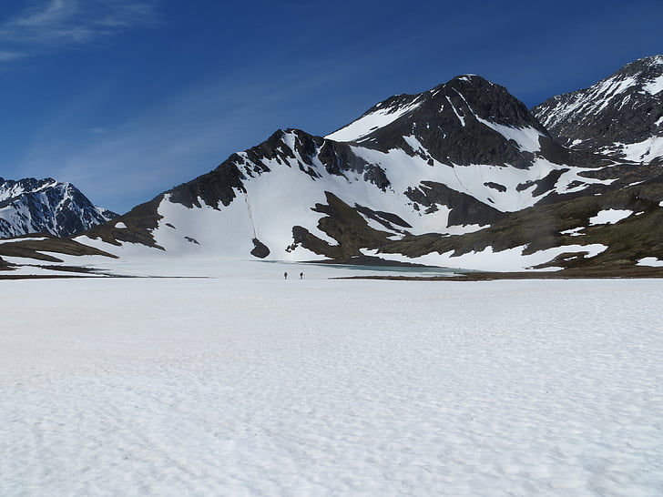 neu, muntanyes, caminada, Alaska, natura, paisatge, l'aire lliure