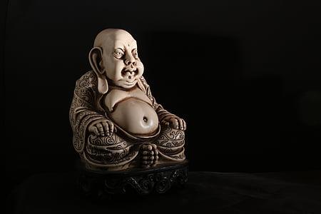 Buda, budisme, xinès, PU-tai, pedra, figura, tailandès
