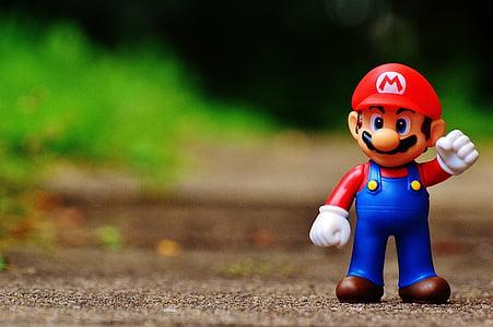 mario, figure, play, nintendo, super, retro, classic