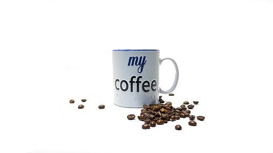 cafè, fesols, grans de cafè, begudes, torrat, Copa, aroma de