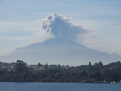vulcão, erupção, Chile, montanha, Monte fuji, natureza, Japão