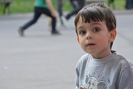 child, boy, portrait, emotion, people, boys, outdoors
