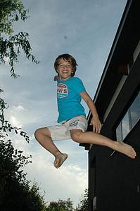 jump, boy, sky, fun, young, happiness, joy