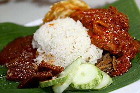 aliments, Nasi lemak, Àsia, Malàisia, malai, plat, àpat