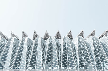 hoonete, arhitektuur, kaasaegne, read, kõverad, struktuur
