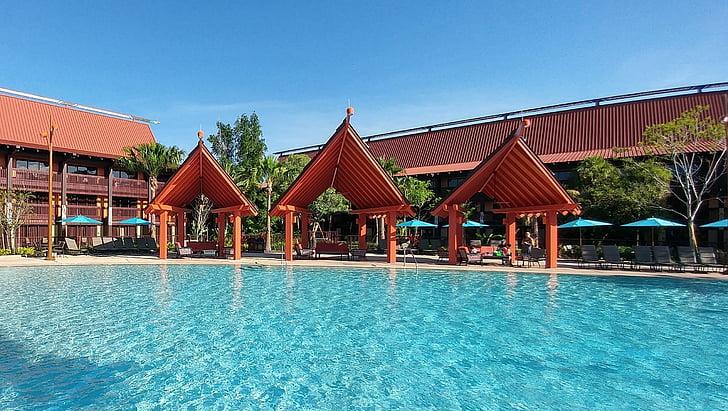 piscina, piscina d'aigua, piscina, complex