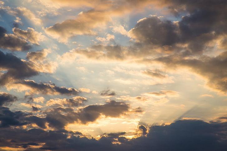nuvem, nuvens ardentes, a paisagem, nuvem - céu, pôr do sol, natureza, planos de fundo