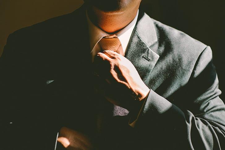man, holding, necktie, fashion, Businessman, suit, one man only