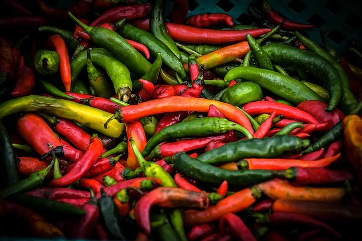 红辣椒, 食品, 辣椒, 香辣