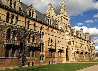 oxford, christchurch, college, university, architecture, historic, building