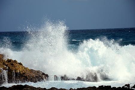 ona, skimmings, oceà, esprai, Roca, al costat del mar, Mar
