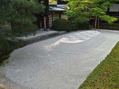 Zen, jardin de Pierre, Japon, jardin japonais, Pebble, pierres, Rock