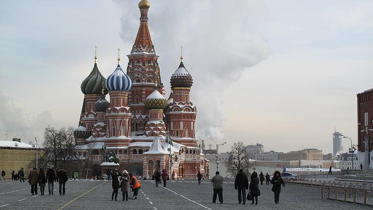 Katedrála saint-basile, Rusko, Moskva, Červené námestie