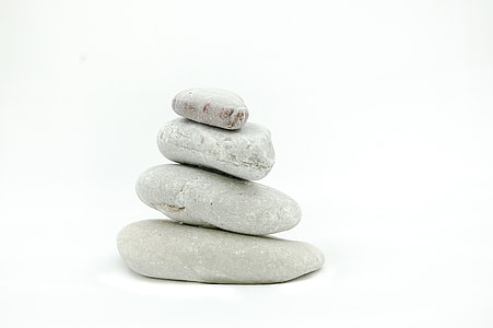 the stones, stone, on a white background, zen, meditation, peace of mind, stack