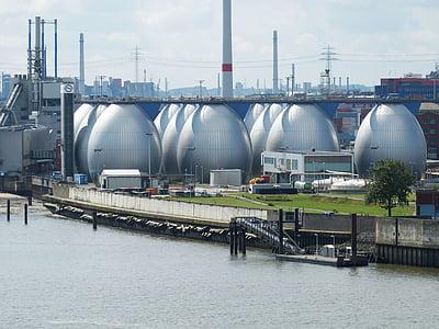 Hamburg, Altona, Port, muna, reoveepuhasti, tehase, tehnoloogia