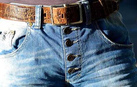 安全带, 扣, 牛仔裤, 按钮, 时尚, 皮带扣, 金属