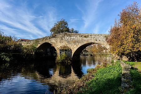 puente, Río, agua, Puente - hombre hecho estructura, reflexión, conexión, arco