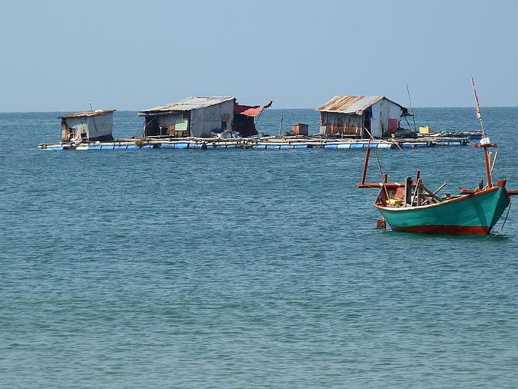 Fischer, Mar, embarcacions, peix, vaixell de pesca, Vietnam, Phu quoc